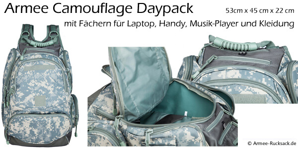 Armee Camouflage Daypack