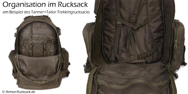 Organisation im Rucksack